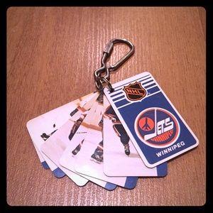 Vintage 1983 Winnipeg Jets keychain